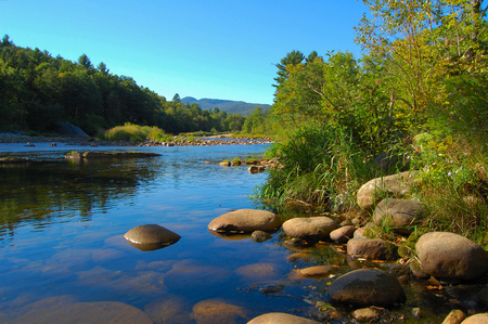 stepping: river in the white mountains