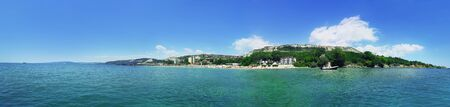 balchik: Beautiful summer panorama with a view at Balchik city near the coast of Black Sea, Bulgaria