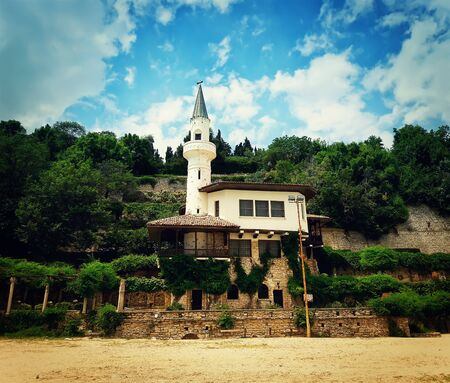 balchik: The castle of Romanian queen Maria by the black sea in Balchik, Bulgaria Stock Photo