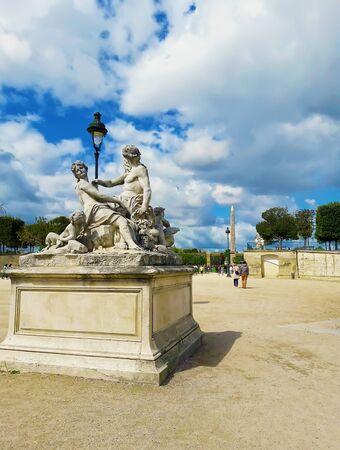 Sculpture in Jardin des Tuileries (Tuileries garden)