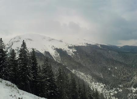 Winter landscape of Pirin mountains, Bansko ski resort in Bulgaria Stok Fotoğraf
