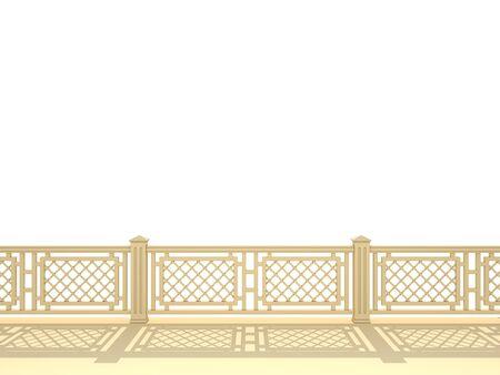 balustrade on a white background Stock Photo