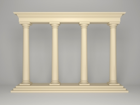 Element of classical architecture portal with columns photo