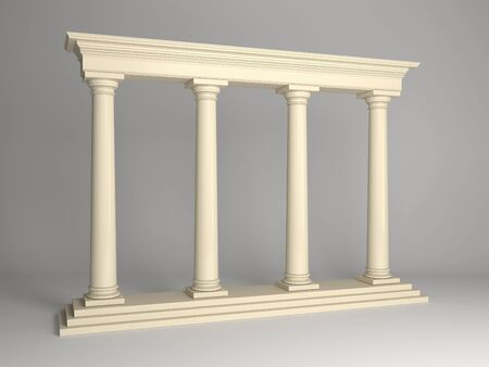 classical architecture portal with columns photo