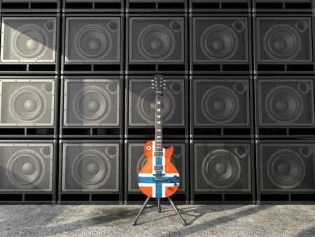 Norway flag electric guitar photo