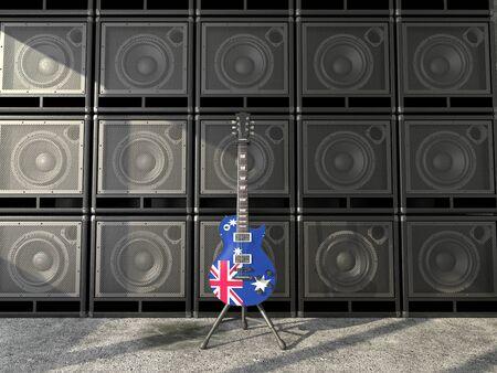 Australia flag electric guitar photo