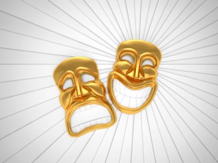 笑顔で演劇マスク