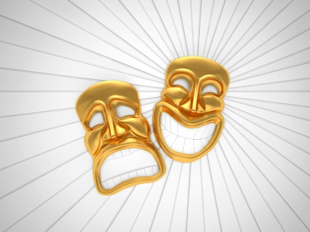 Theatrical mask with a smile Stock Photo