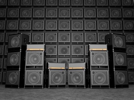 superdirecta: Amplificadores de Guitarra Foto de archivo