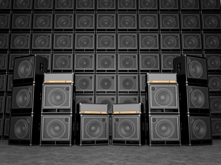 Guitar amps photo