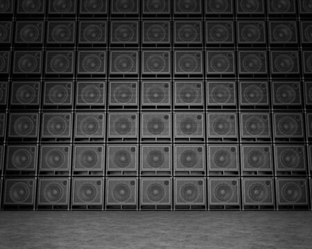 Big wall of guitar amps Stock Photo - 16903341