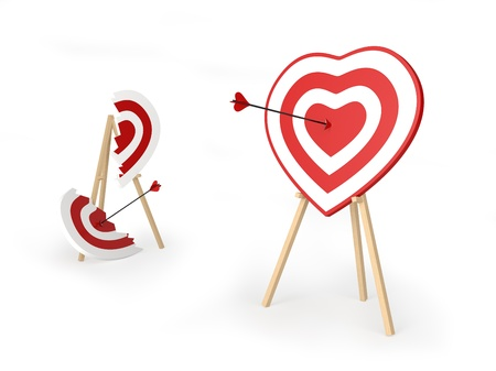 blunder: Arrows of love Stock Photo
