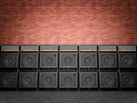 Stack of guitar amplifiers Standard-Bild