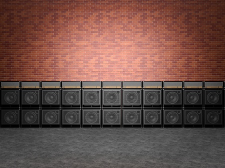 Stack of guitar amplifiers Stock Photo - 19583334