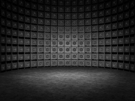 Mur d'amplis de guitare Banque d'images - 20443609