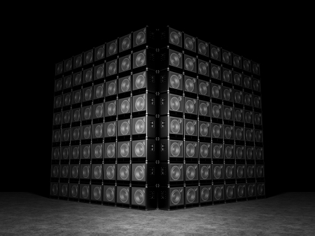 Wall of guitar amps Stock Photo - 20443608