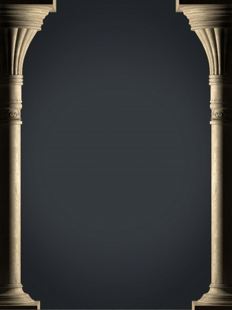 Background is two ancient columns  High-resolution Stok Fotoğraf - 21088136