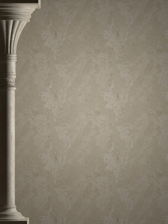 Background is antique column  High-resolution