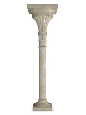 Marble column isolated on white