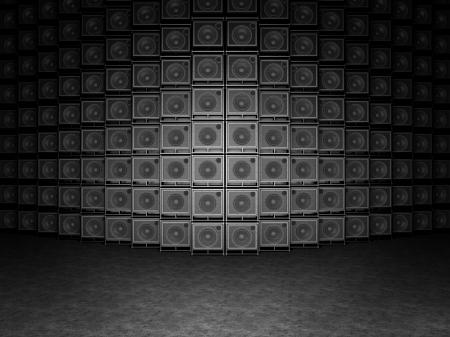 superdirecta: Pared de amplificadores de guitarra Foto de archivo