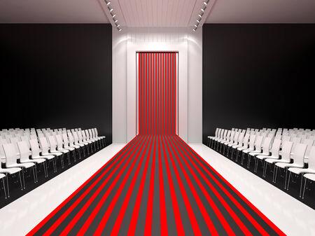 walkway: Fashion empty runway