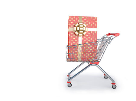 Shopping supermarket cart  A great buy  photo