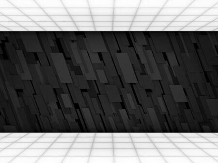 tron: Abstract futuristic interior