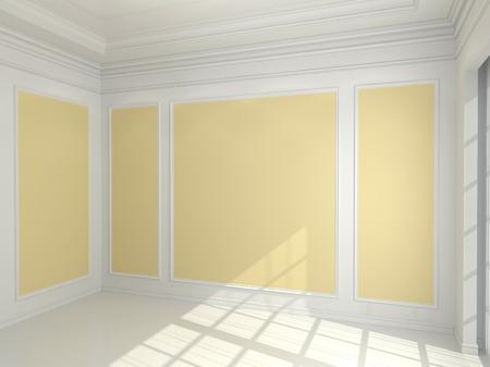 decorative wall: Empty classic interior Stock Photo