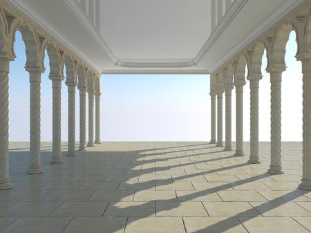 grandiose: Colonnade of ancient columns