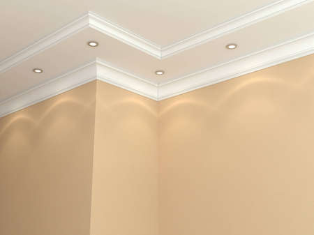 molding: Ceiling cornice