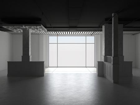 Abstract empty interior Standard-Bild