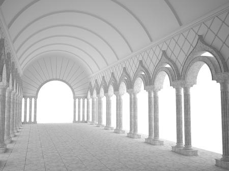 grandiose: Classic interior with arches and columns