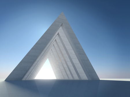 monolith: Abstract architectural form