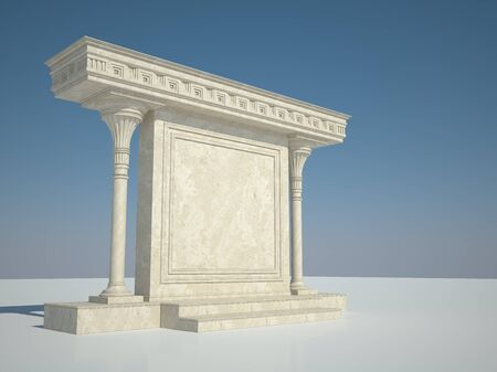 greece granite: Abstract architectural structure in classical style