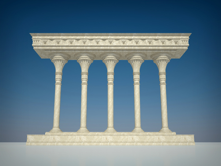 greece granite: Architectural structure in classical style