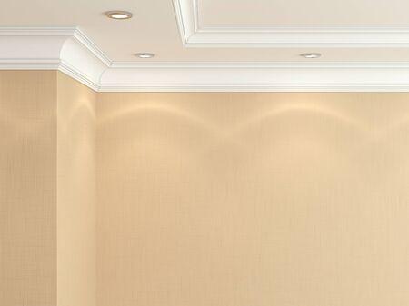 Ceiling cornice. photo