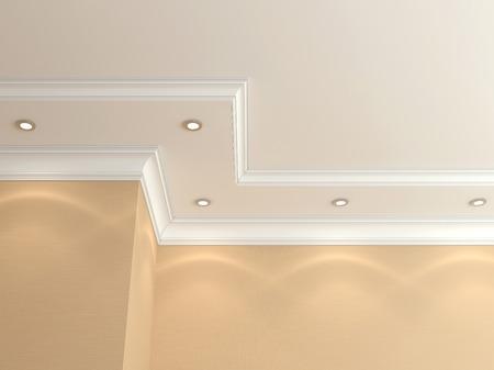 Ceiling cornice. Standard-Bild