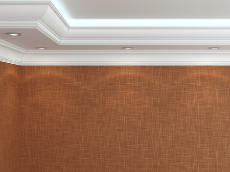 Het plafond in een klassieke stijl. 3D-rendering Stockfoto