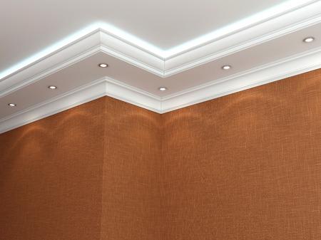 El techo en un estilo clásico. Las 3D