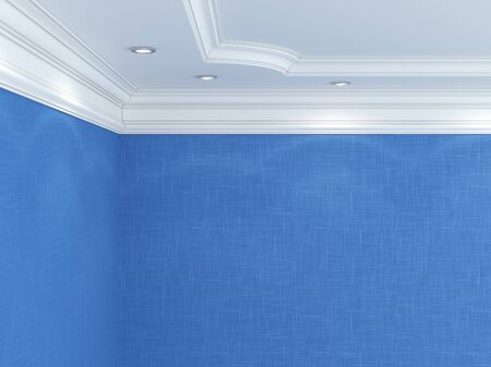 ceiling: Ceiling cornice. Stock Photo