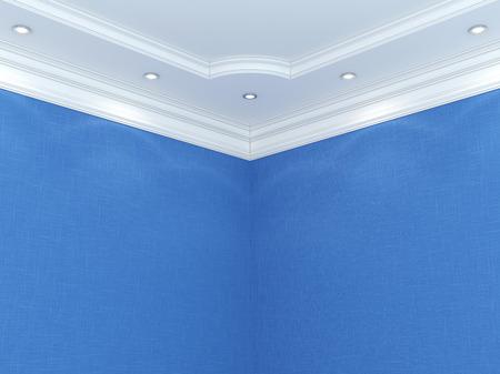 Ceiling cornice. 스톡 콘텐츠