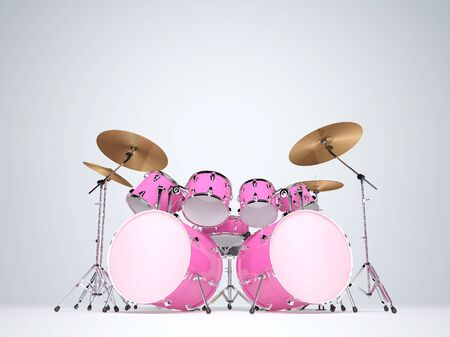drums: Drums pink with two bass drums
