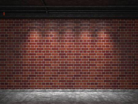 Backgrounds of brick wall illuminated
