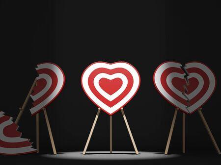 sports symbols metaphors: broken hearts