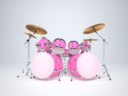double rooms: Drums pink with two bass drums