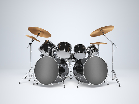 Drum kit with two bass drums