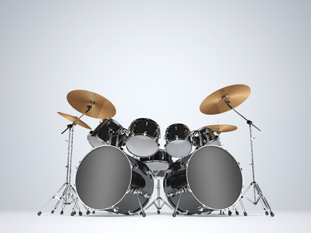 bass drum: Drum kit with two bass drums