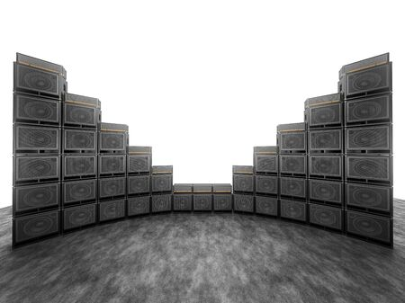 whine: Wall of guitar amps on the background of bright white light