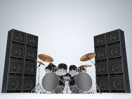 amps: Drum kits and guitar amps