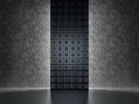 amps: Backgrounds of guitar amps on the background of a concrete wall